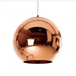 Colgante Esfera 1 Luz E27 color cobre, 20cms ancho