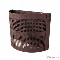 Aplique Metalico Etrusco semicilindro 30cms de ancho