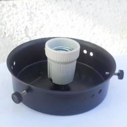 Bisel globo 25 cms color negro y loza E27