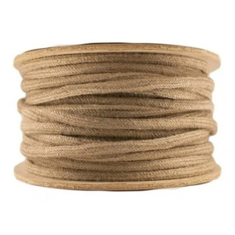 Cable textil, cable forrado