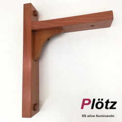 Escuadra de madera 20cms color Natural