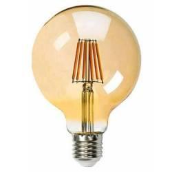 Ampolleta Filamento LED Vintage G125 Ambar