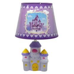 Lámpara Velador Castillo Lila