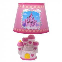 Lámpara Velador Castillo Rosado