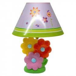 Lámpara Velador Flores
