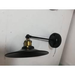 Aplique vintage platillo negro 1-L E27