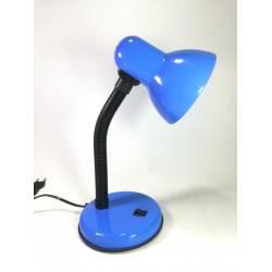 Lámpara de escritorio Mini flexible Azul con base, soquete E27