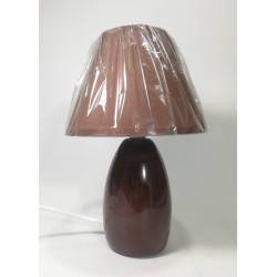 Velador cerámica Café 1-L E27