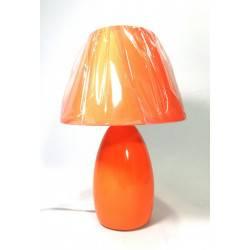 Velador cerámica Naranja 1-L E27