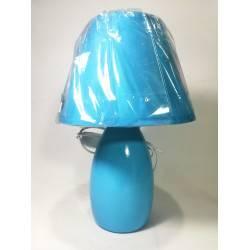 Velador cerámica Turquesa 1-L E27