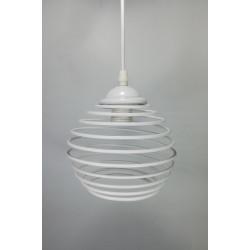 Colgante Resorte 1 luz E27 blanca