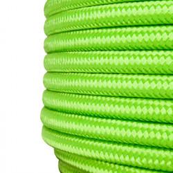 Cable textil forrado Verde Limón, Precio por metro