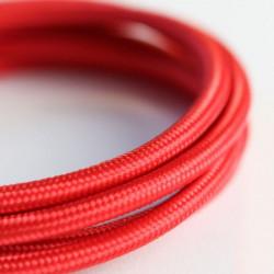 Cable textil forrado Rojo, Precio por metro