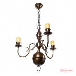 colgante bronce holandesa 3 luces