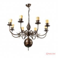 colgante bronce holandesa 8 luces