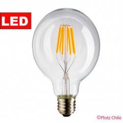 Ampolleta Filamento LED Vintage G125 Transparente